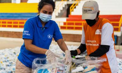 PMA/Mathias Roed El PMA distribuye canastas con comida entre las poblaciones vulnerables en Colombia.