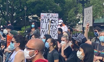 Noticias ONU/Antonio Lafuente Manifestacion en la ciudad de Nueva York para exigir justicia y protestar contra el racismo en los Estados Unidos, tras la muerte del ciudadano afroamericano George Floyd mientras estaba bajo custodia policial.