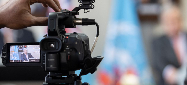 ONU//Mark Garten El Secretario General de la ONU durante una rueda de prensa virtual.