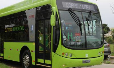 ONU Brazil/Ana Rosa Alves La Universidad de Río de Janeiro utiliza buses híbridos que se mueve gracias a hidrógeno y electricidad y no contamina.