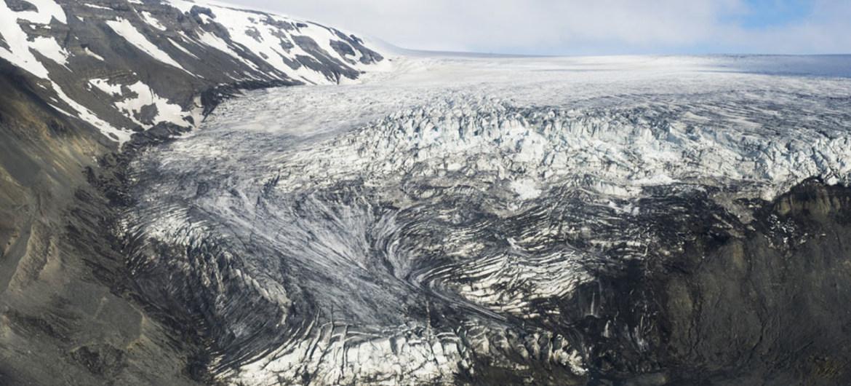 Glaciar Langjökull en Islandia.