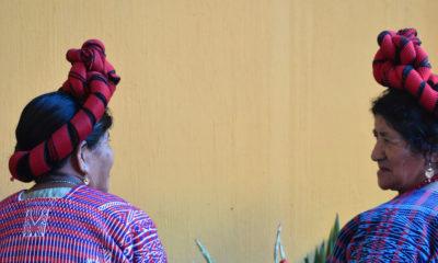 Un grupo de mujeres Maya Poqomam en Guatemala.