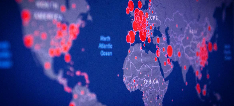 Un mapa de datos muestra las zonas donde aumentan los casos de COVID-19