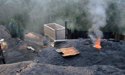 Banco Mundial Minas de carbón afuera de Samaca, en Colombia.