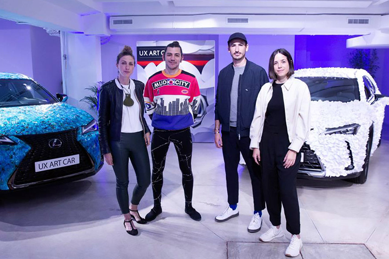 (EFE).- En la foto, de izquierda a derecha, Trinidad Salamanca y Pablo Párraga, ganadores del concurso Lexus UX Art Car en el Chantilly Arts & Elegance Richard Mille 2019, y Jordi Iranzo y Angela Montagud, ganadores de la segunda edición Lexus UX Art Car, 2021.