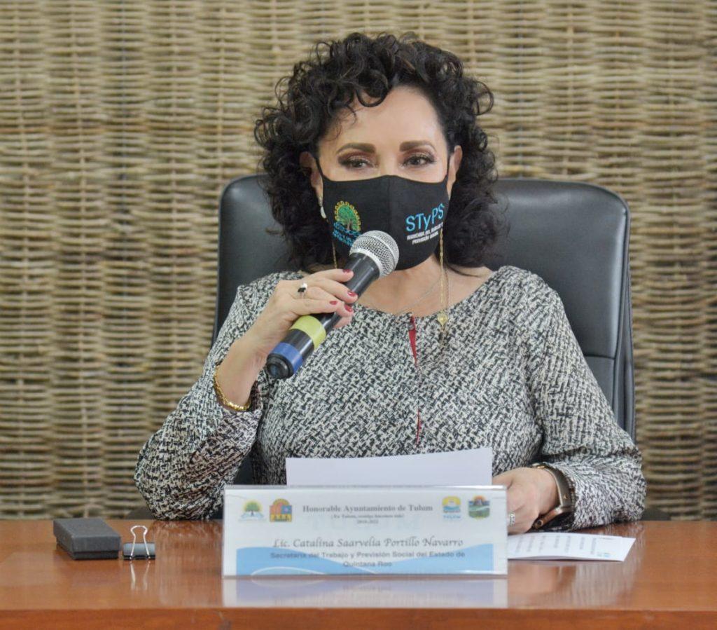 Catalina Portillo, titular de la STyPS